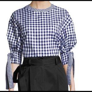 Rosetta Getty balloon sleeve blouse sz 6